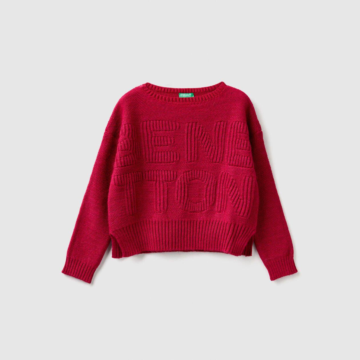 Maglia tricot con logo