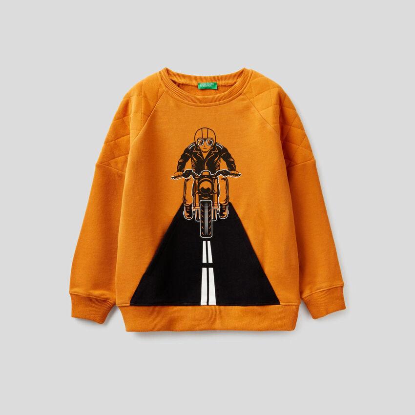 Sweatshirt mit Details im Lochmuster