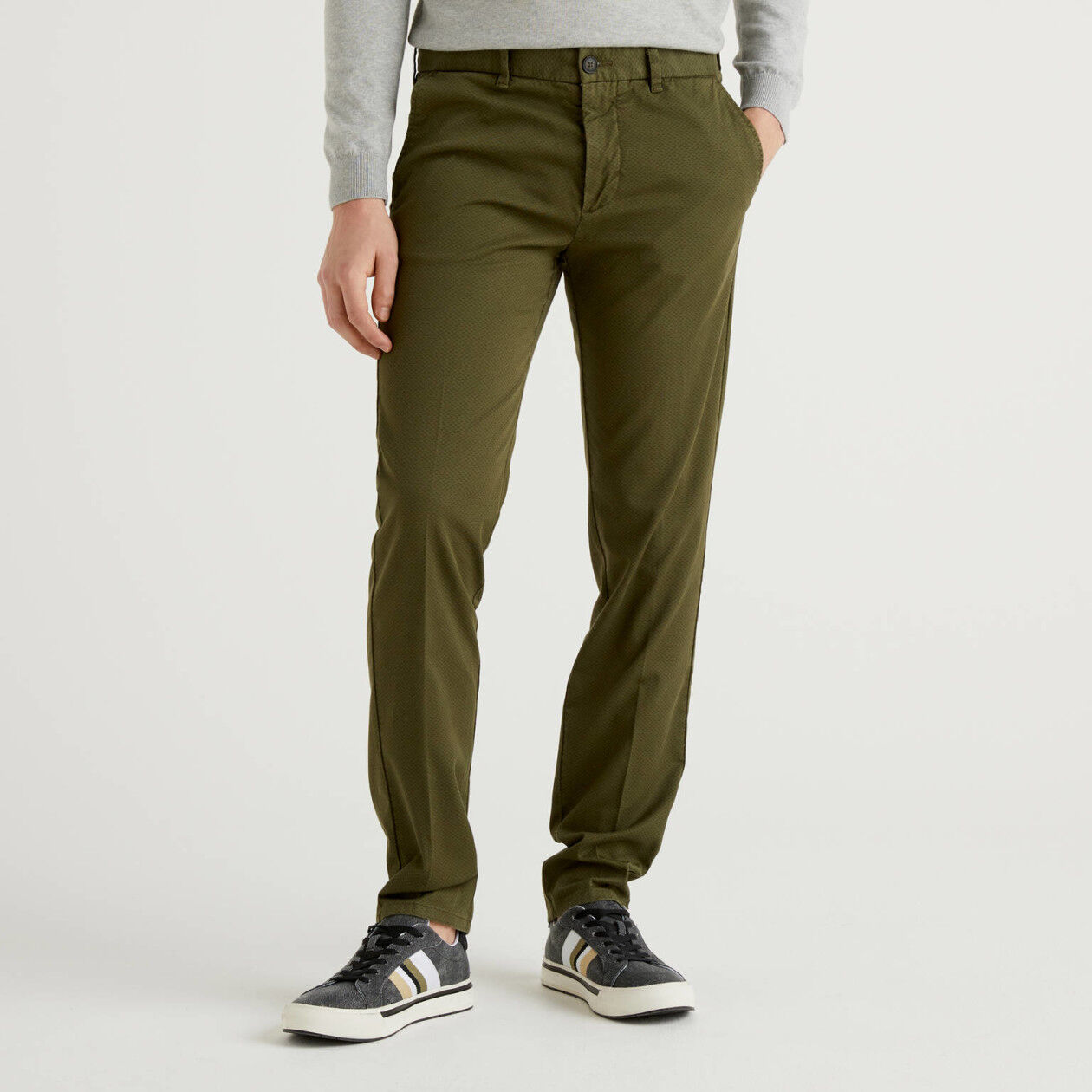Chino coupe slim en coton stretch