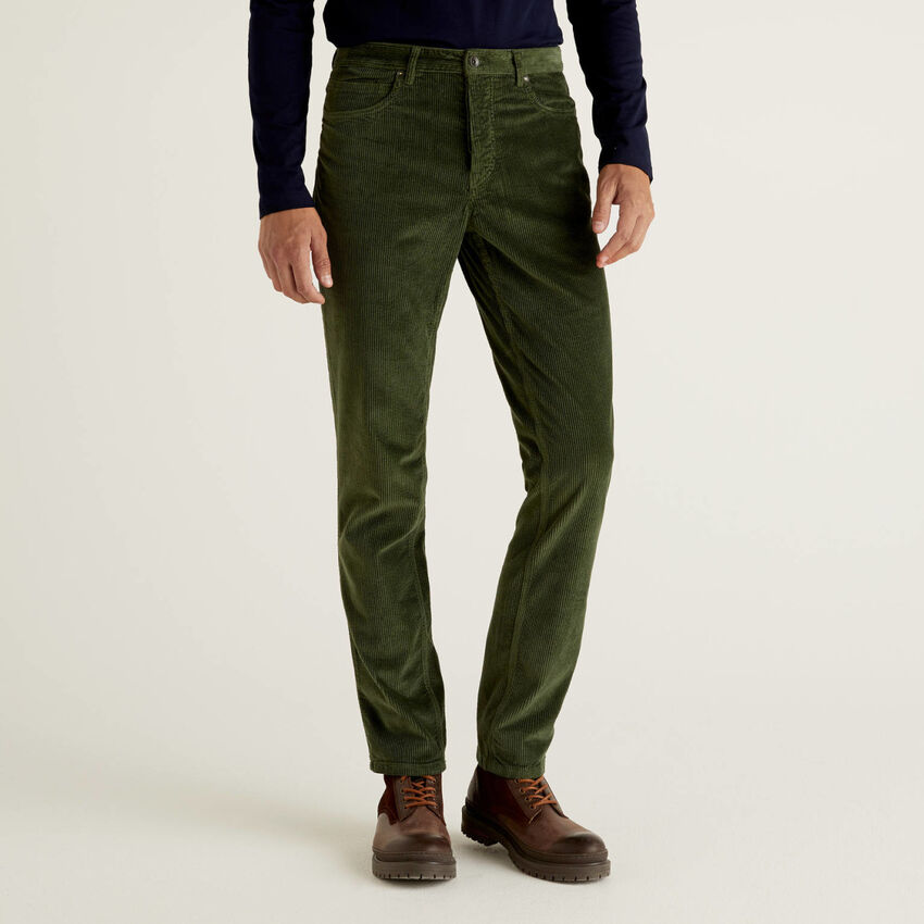 Pantalon en velours à rayures