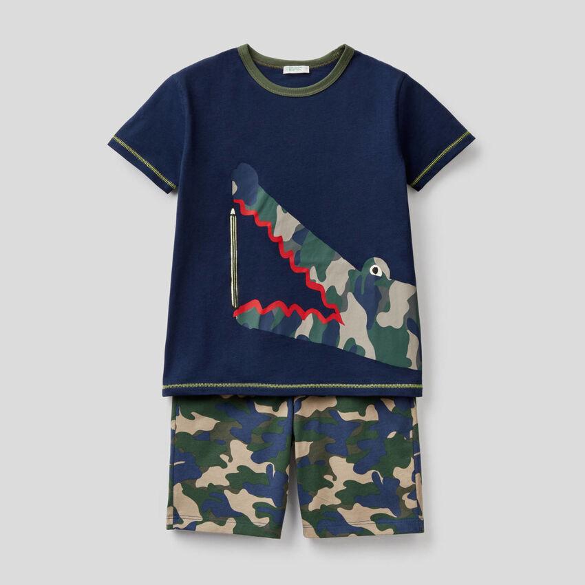 Pyjama court en 100% coton