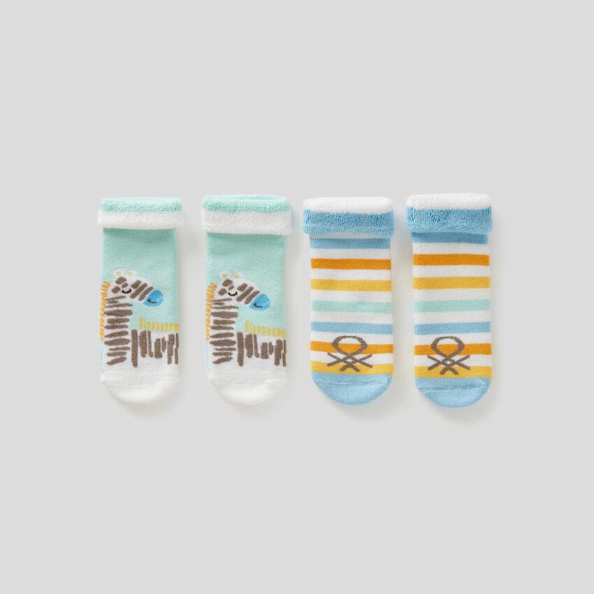 Set mit Socken aus Frottee