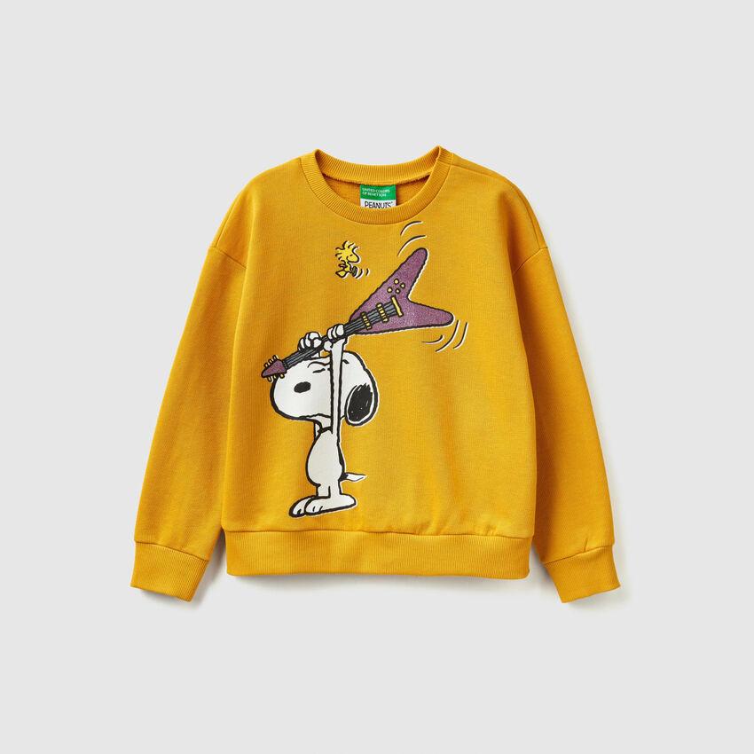 """Felpa con stampa """"Snoopy"""""""