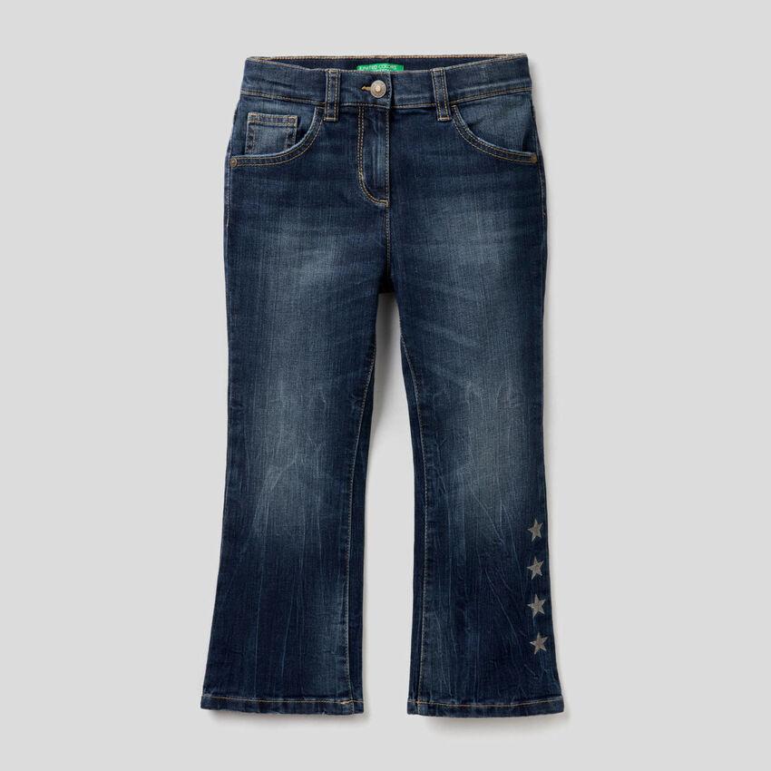 Jeans svasati in cotone stretch