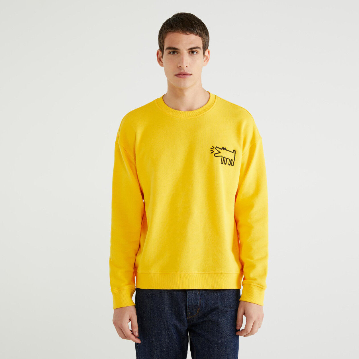 "Sweat col rond ""Keith Haring"""
