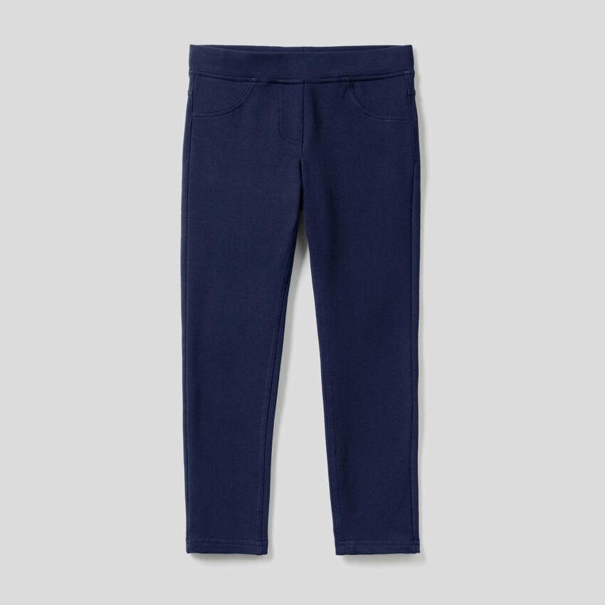 Pantalon super skinny en molleton