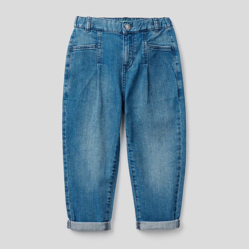 Jeans slouchy in cotone stretch