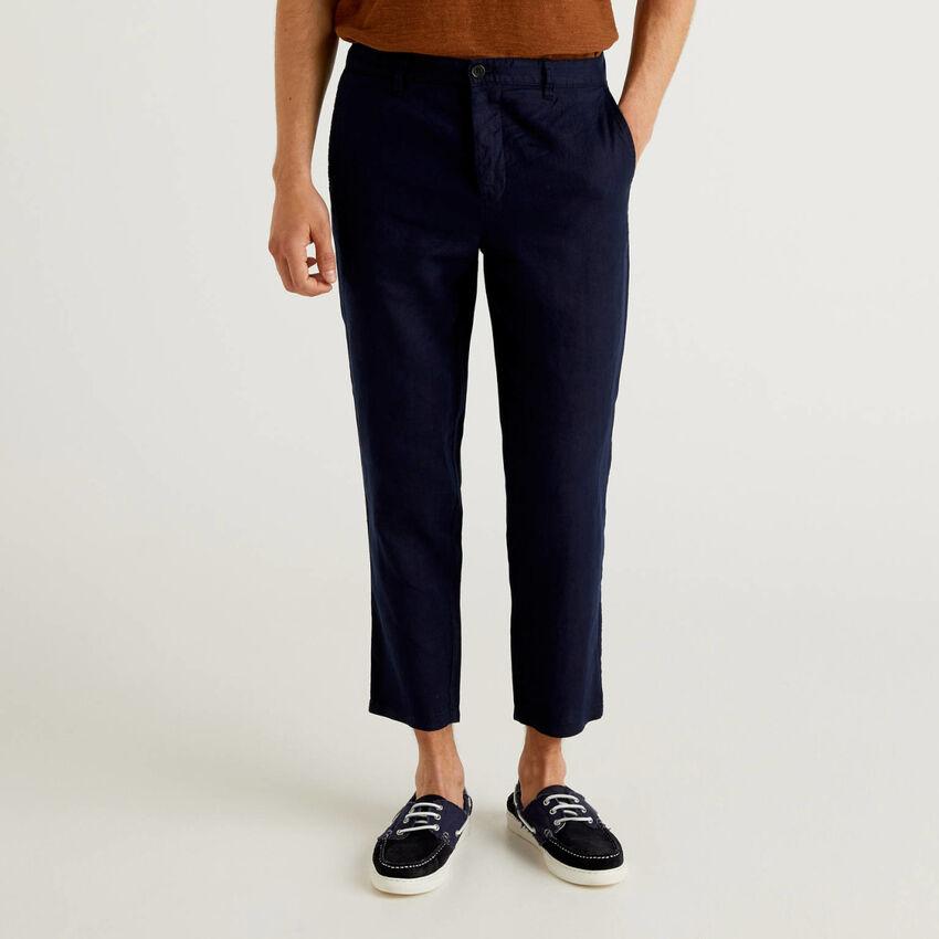 Pantalon chino en pur lin