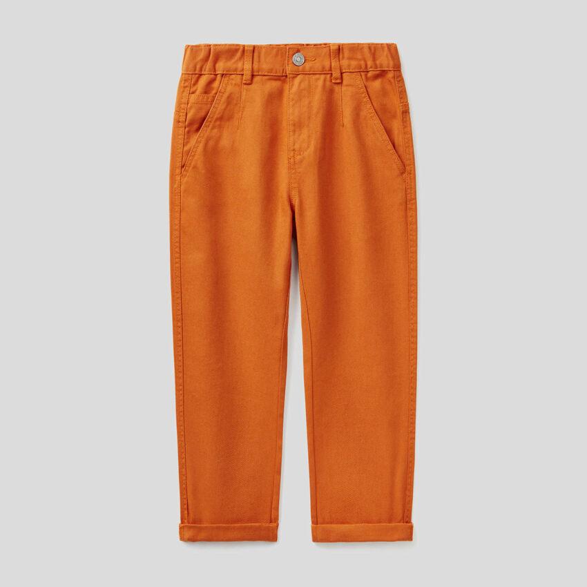 Jeans coupe loose en coton bio