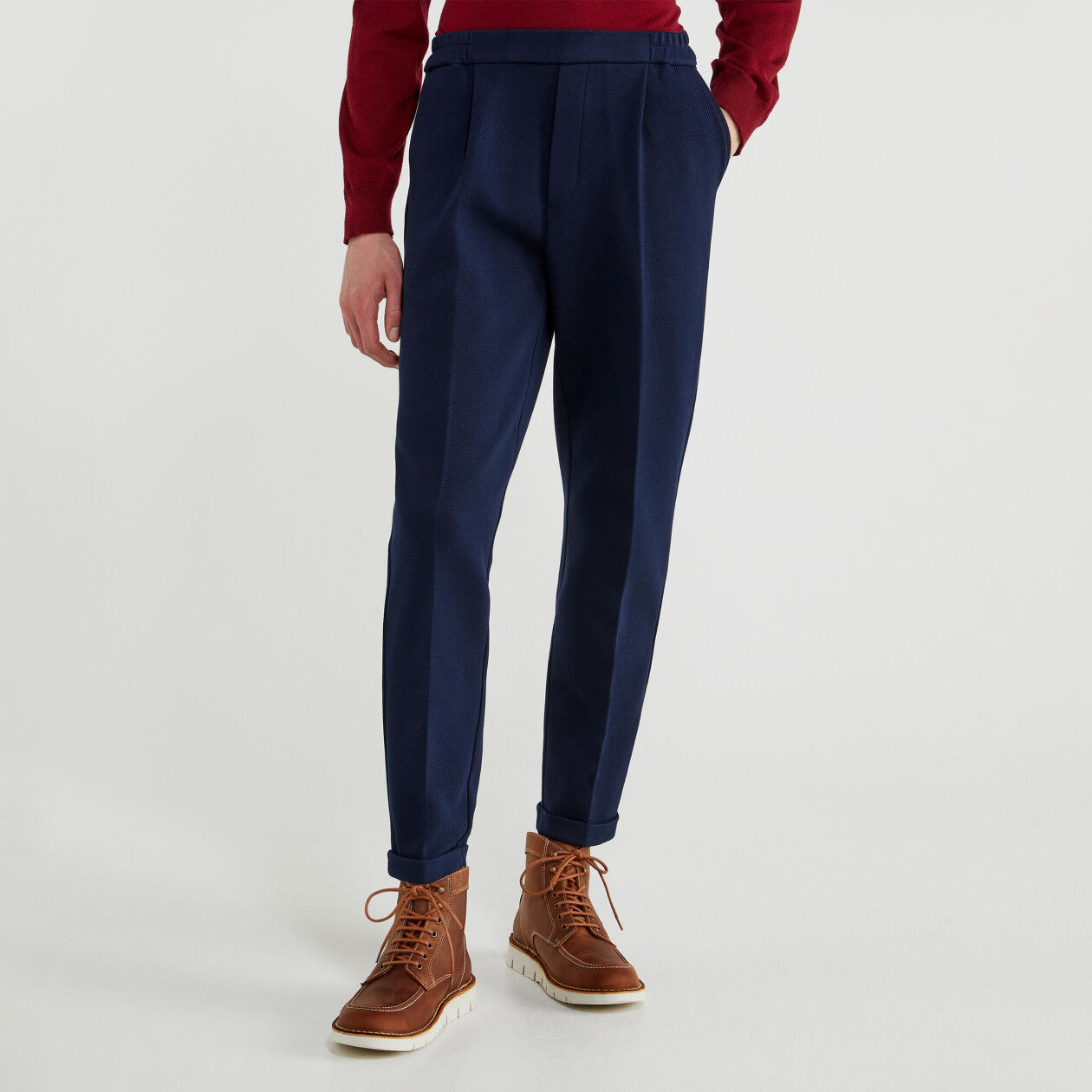 Trousers with cuffs