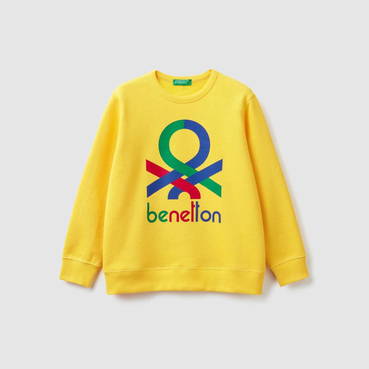 Felpa con logo multicolor