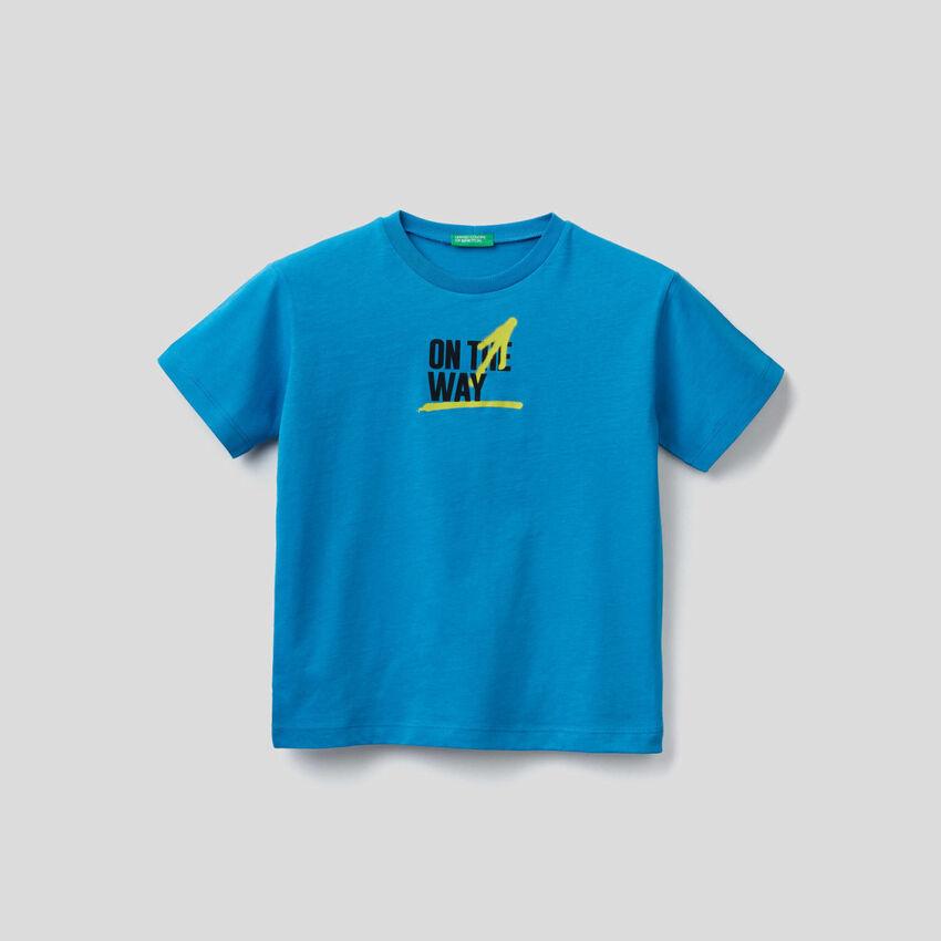 T-shirt in cotone biologico con stampa