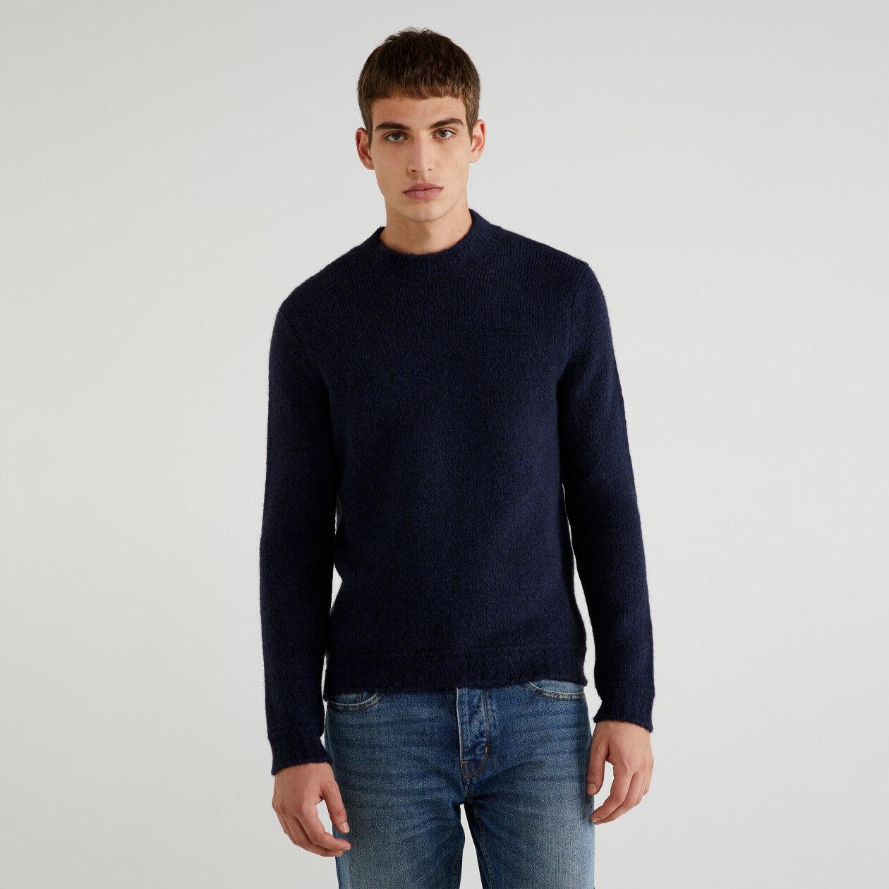 Maglia in cotone e lana