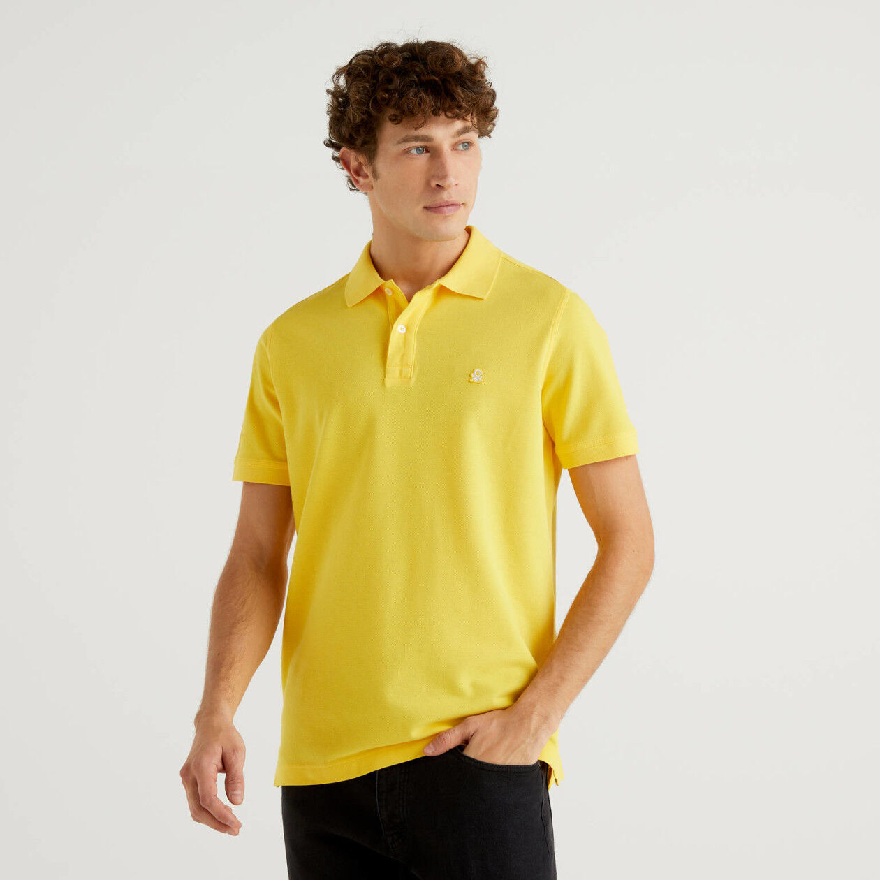 Polo regular fit gialla